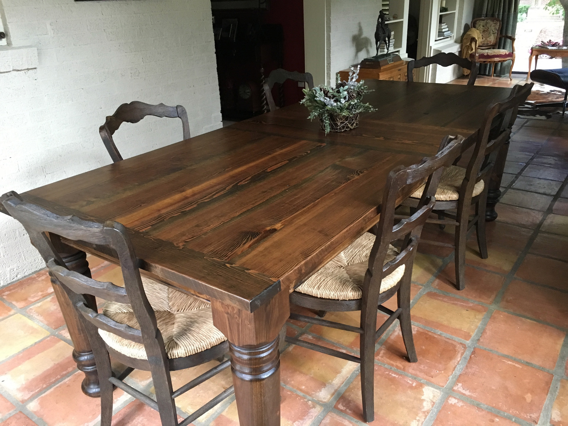 Reclaimed Heartpine Heirloom Dining Table