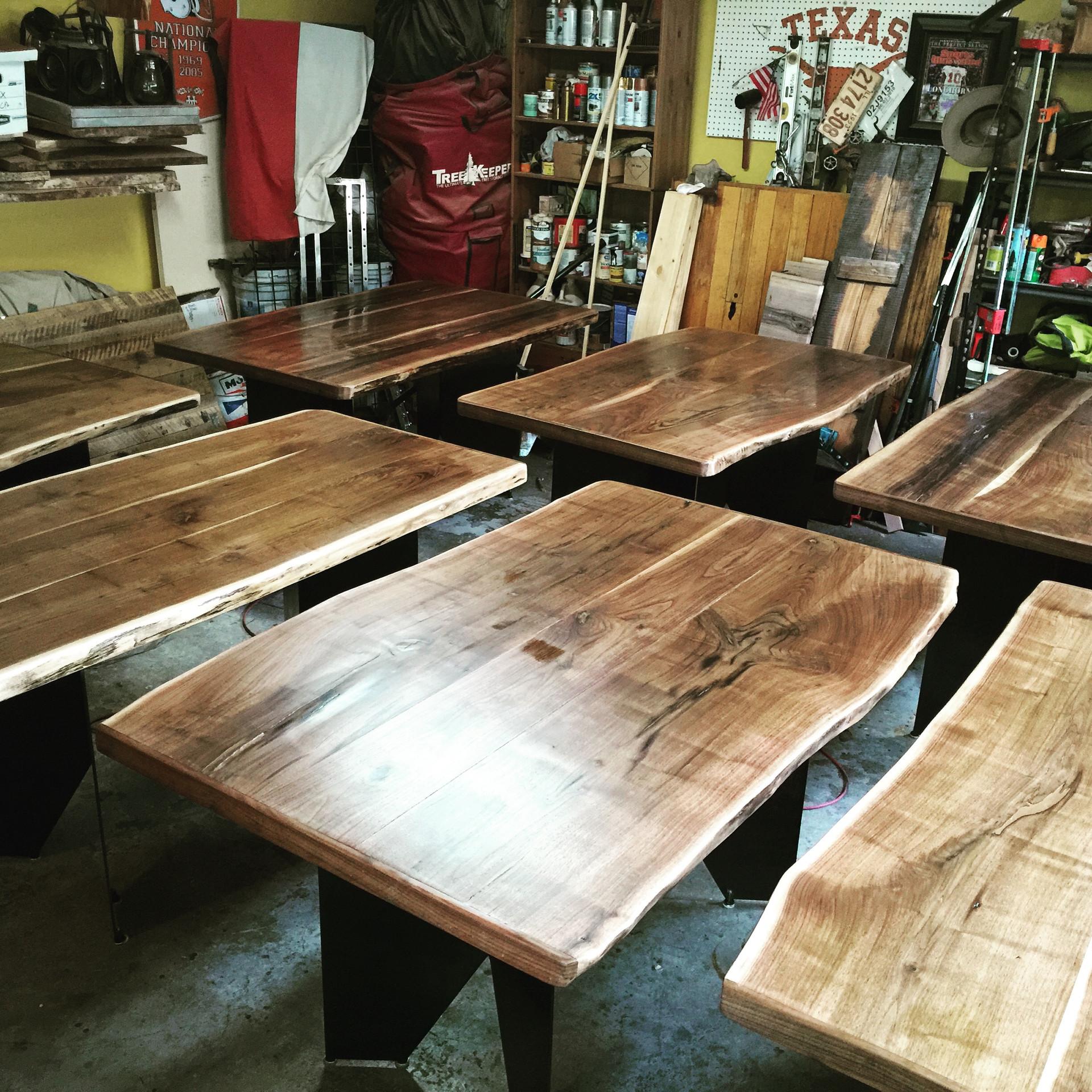 Live Edge Walnut Slab Restaurant Project