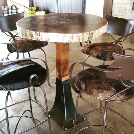 Black Walnut Slab Bar Table