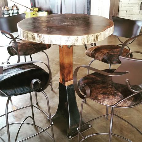 Black Walnut Slab Bar Table