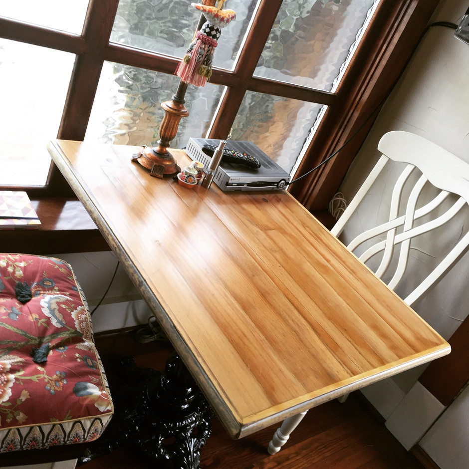 Reclaimed Long Leaf Pine Kitchen table