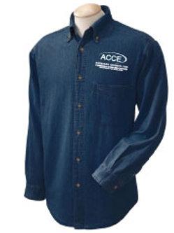 ACCE Mens Denim Shirt LIGHT or DARK Blue