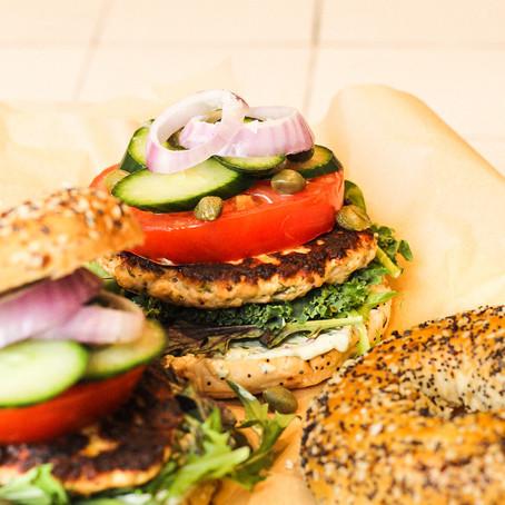 New York Salmon Burgers