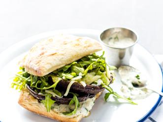 Roasted Balsamic & Horseradish Mushroom Sandwich