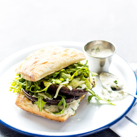 Roasted Balsamic & Horseradish Mushroom Sandwich