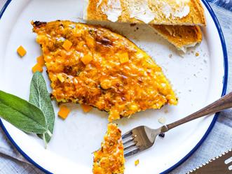Skillet Ham & Cheddar Frittata