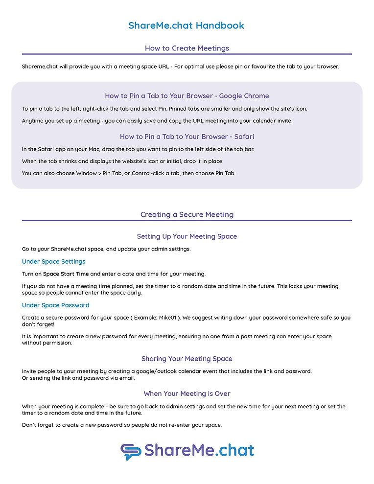 ShareMe Chat_Handbook_Creating a Meeting
