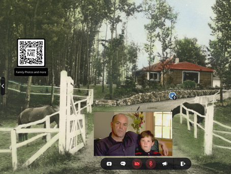 Sharing family memories with video chat from ShareMe.chat