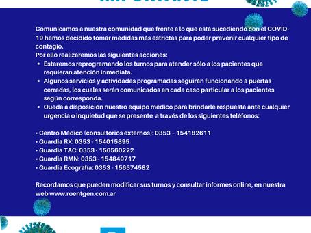 Medidas Institucionales COVID-19