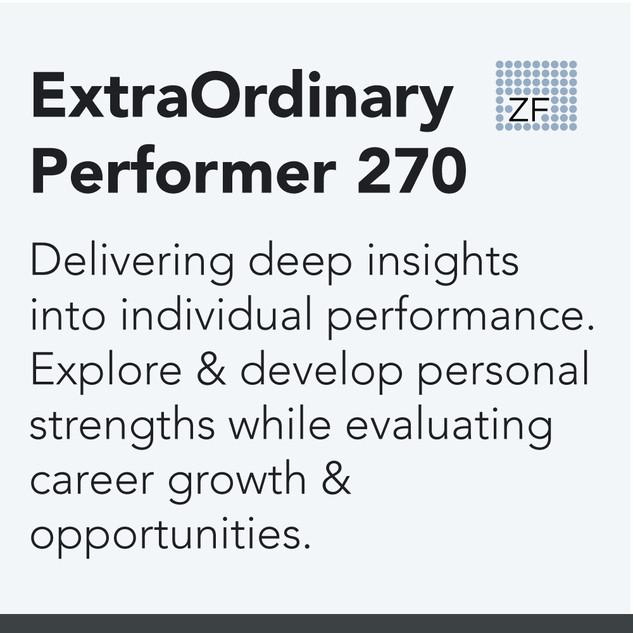ExtraOrdinary Performer Assessment