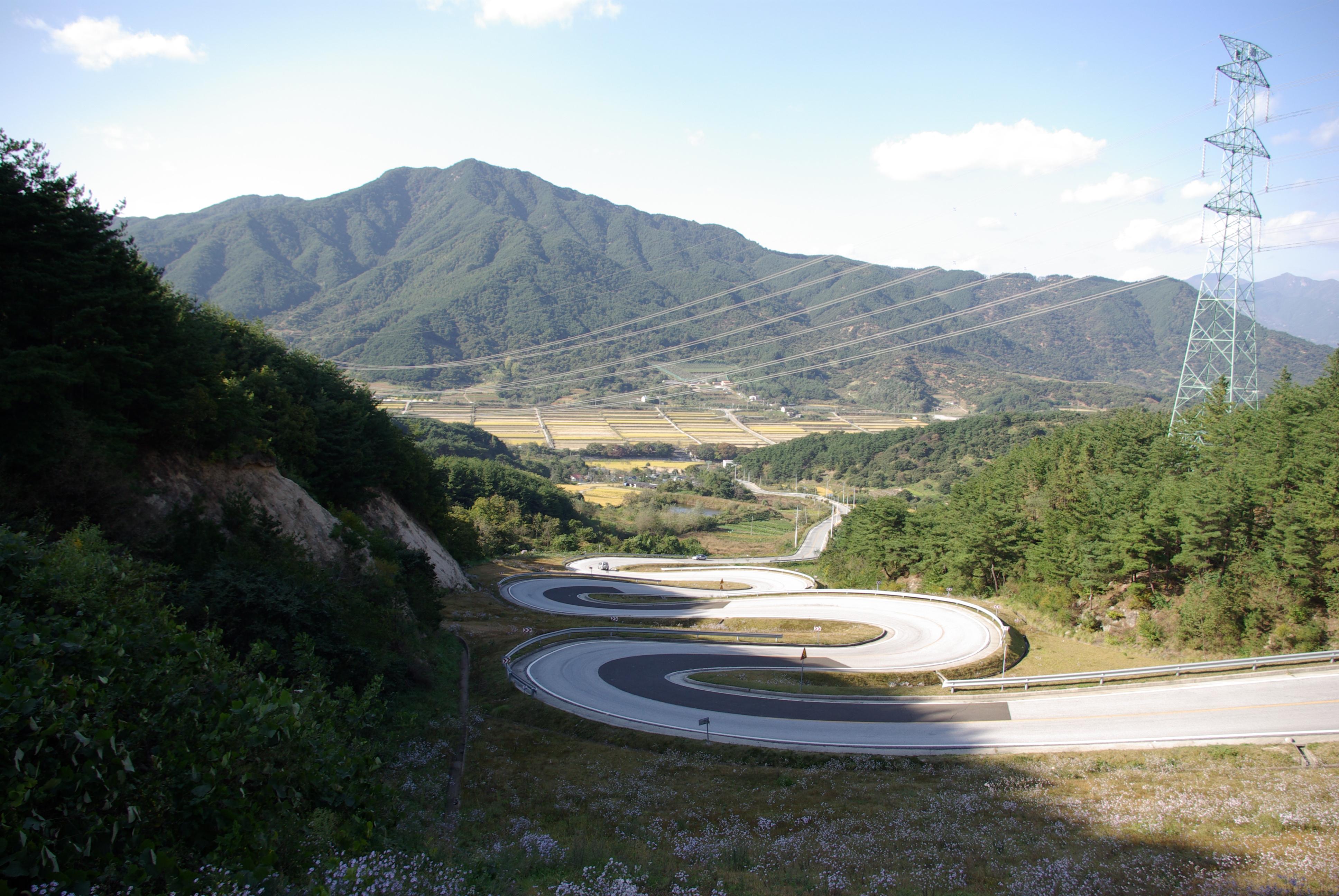 Winding Road in Chung Ju