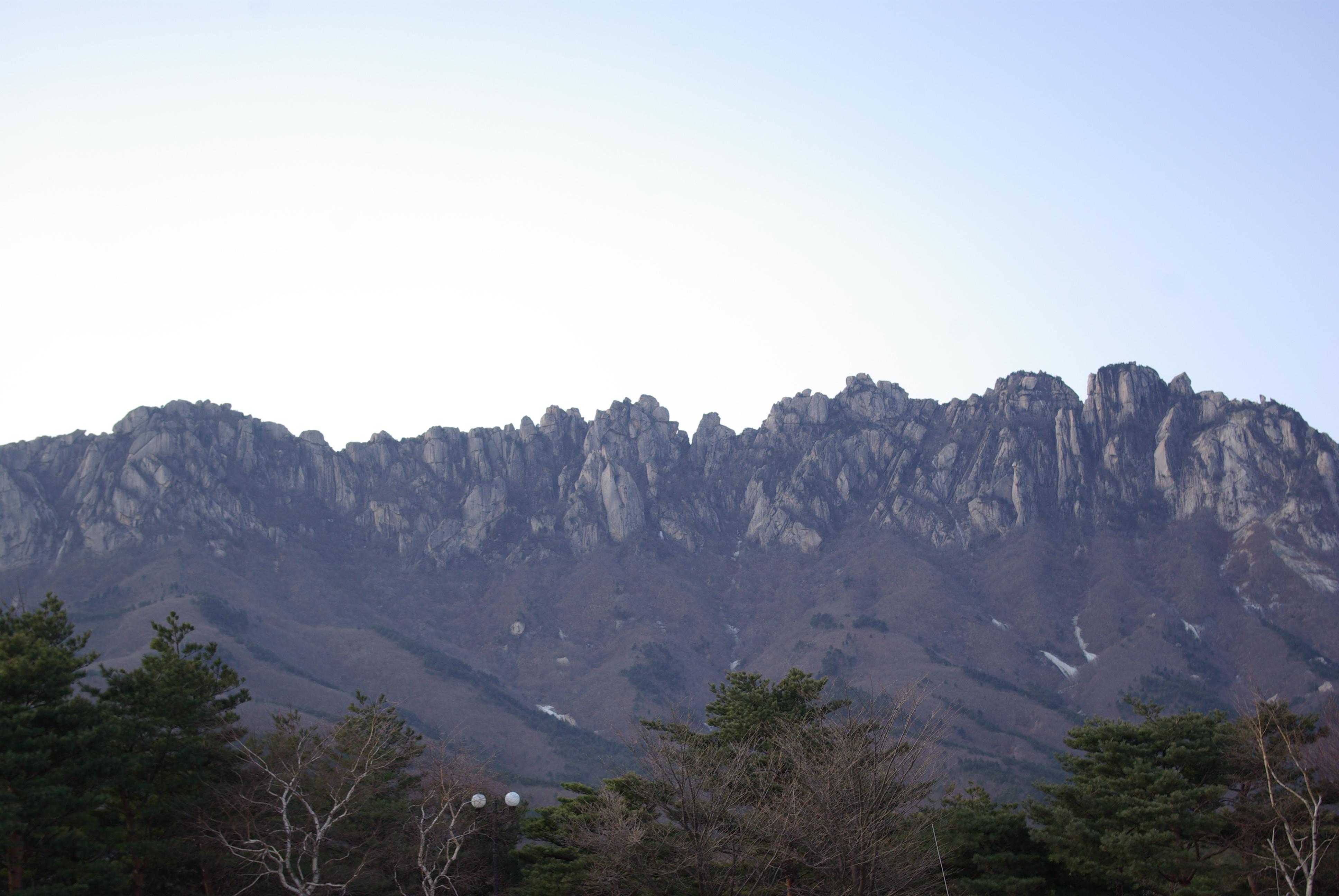 Rocky mountain in Korea