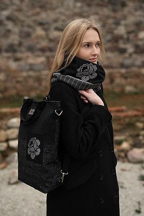 KARMEN 3in1 bag Rose Negative - backpack / crossbody bag / handbag