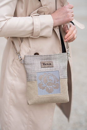 ROOSI Beige Small Crossbody Bag