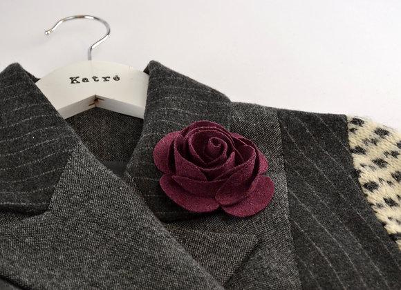 Purple Wool Felt Rose