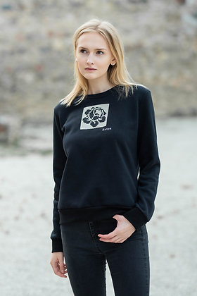 Women's black sweater ROSE