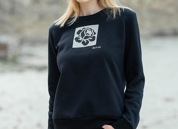 Women's black sweater ROSE