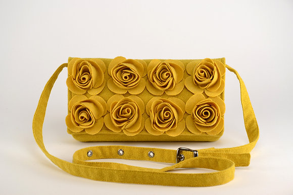 MARIE Yellow crossbody bag