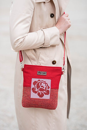 ROOSI Bright Red Small Crossbody Bag