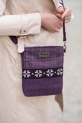 Purple Pattern Small Crossbody Bag