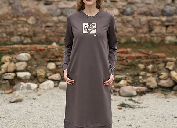 Women's sweater dress BEIGE