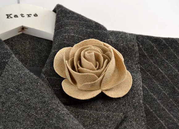Beige Wool Felt Rose