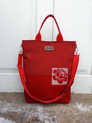 KARMEN punane punane 3in1 kott - seljakott / õlakott / käekott