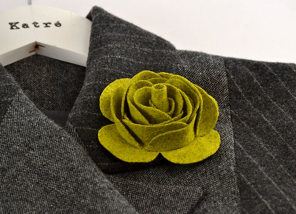 Light Green Wool Felt Rose
