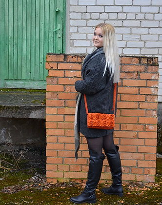 MARIE Orange crossbody bag