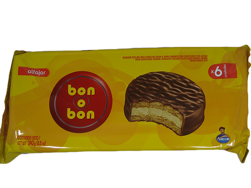 Alfajor bon o bon chocolate