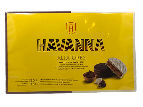 Alfajor Havanna mixtos de chocolate