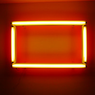 Homage to Dan Flavin in Red and Yellow