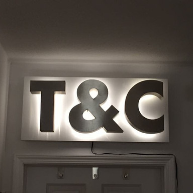 T&C Lighted Sign