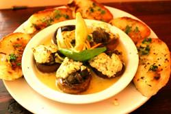 Escargot stuffed Roasted Mushrooms