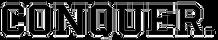 Conquer word logo