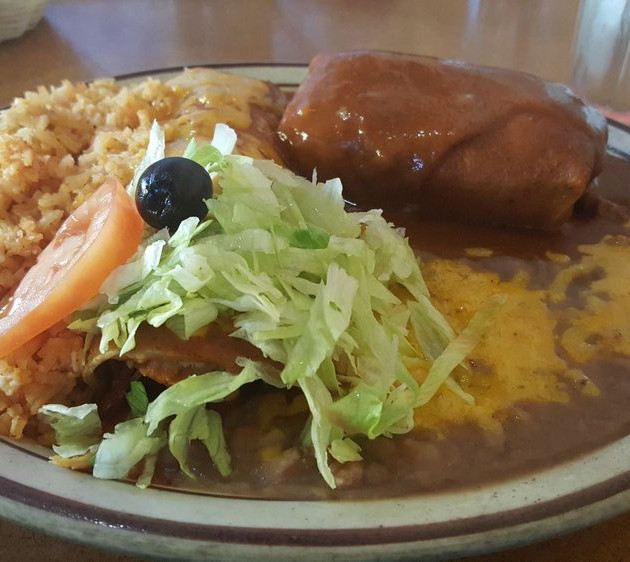 2 Combo Plate with Chicken Enchilada and Beef Tamale