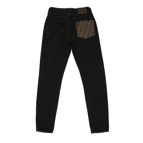 Authentic Fendi on Denim Jeans