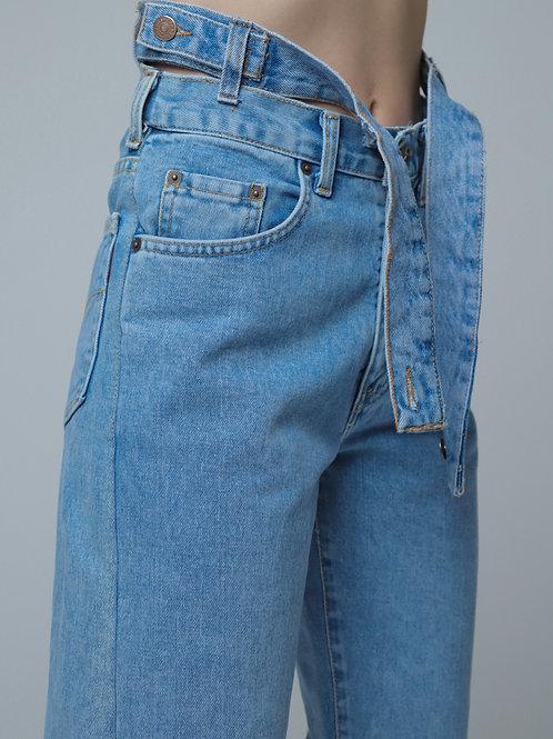 Double -Waist Baggy Jeans