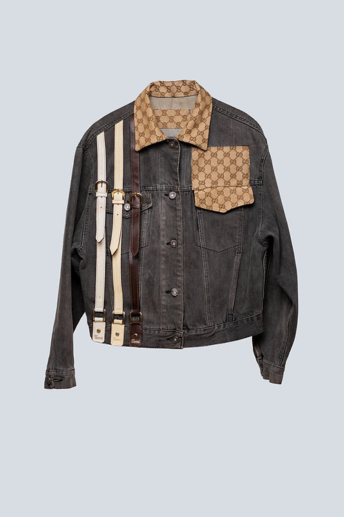 Gucci Accessories On Denim Jacket