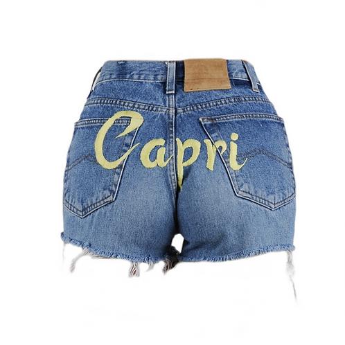 Capri Denim Shorts
