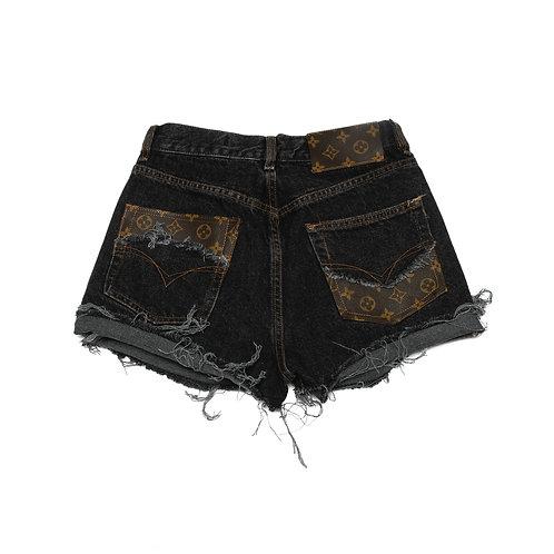 Brunette's Denim Shorts