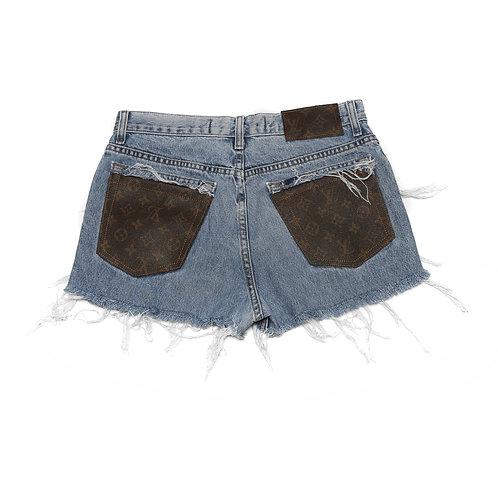 Authentic LV Details on Denim Shorts