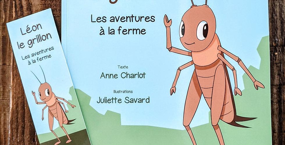 """Livre pour enfant """"Léon le grillon"""""""
