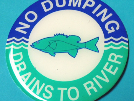 Please don't wash ruin our rivers by dumping your waste water down the gutters.