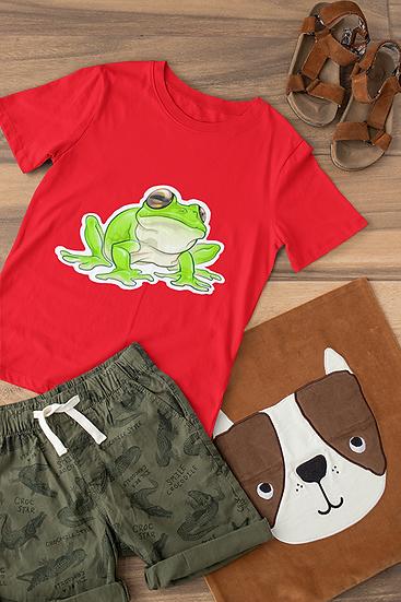 Kids t-shirt, Green tree frog