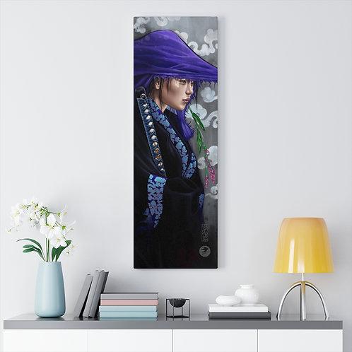 'Lady Katana' premium wrapped canvas