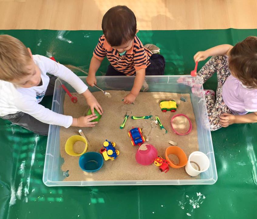 Kids at Lake playground