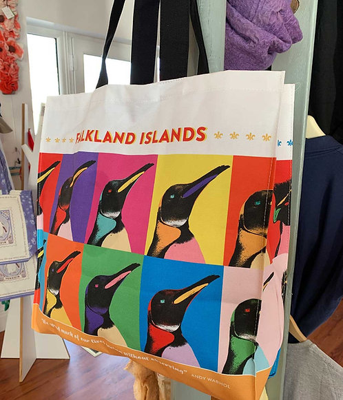Andy Warhol themed penguin carrier bag