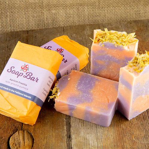 Apricot Freshia and ground pumice Soap
