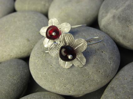Berry n Flower earrings